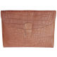 Porte-documents Mya croco camel